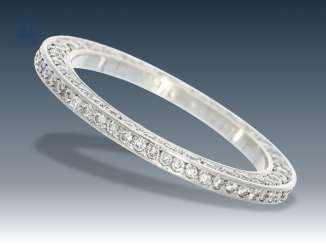 Ring: exceptional and very expensive platinum eternity ring with brilliant-cut diamonds