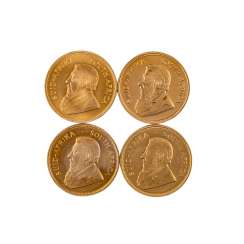 South Africa/GOLD - 4 x 1 oz Krugerrand,