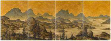 Untitled (mountainous seascape)