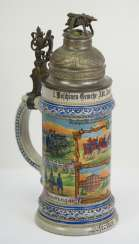 Bavaria: reservists jug of a corporal of the 1. Machine Gun Sect. Augsburg-Lech-Field Landau 1911-1913.
