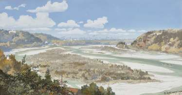 View of the ISAR valley to Munich , Reschreiter, Rudolf 1868 in Munich - 1939, ibid.