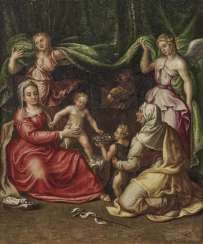 Italy, 2. Half of the 16th century. Century. Maria with the child, the Hl. Elisabeth and John the boys