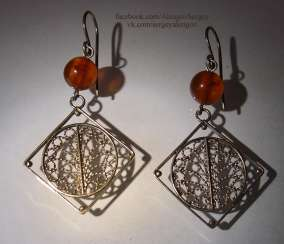 Silver handmade earrings