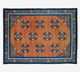 Large carpet with ten lotus medallions