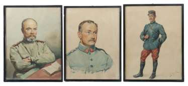 3 soldier portraits three varying portraits of young men in uniform