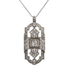 Art Deco pendant with brooch,