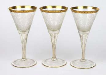 Set of Moser crystal goblets from around 1890/1900