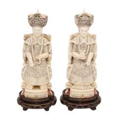 Kaiser pair of ivory CHINA, early 20. Century