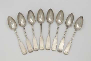 Eight spoons. Minsk, 1873, Radke