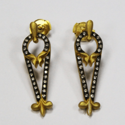 Earrings gold, diamonds Gold 750 - 8,52 g