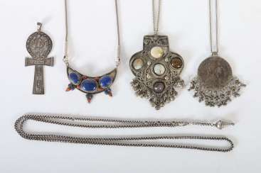 4 chains and 1 pendant mostly Central Asia
