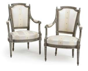 Pair of fine Louis XVI armchairs