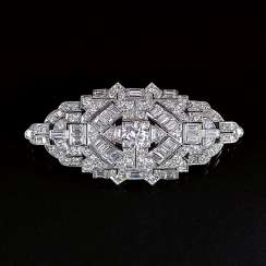 Art-deco Diamant-Brosche