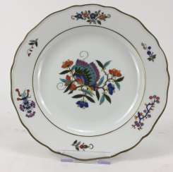 Large Platter / Wall Plate: Meissen Porcelain. Chinese Butterfly / Chinese Painting,19. Century
