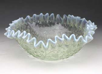 Art Nouveau folding glass bowl 1910