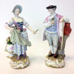 Ernst August, people, Ritz, for the Royal porcelain manufactory Meissen: a Pair of large gardener figures from courtly possession of, 187