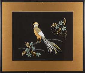 Decoration picture with pheasant.