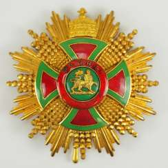 Ethiopia: the order of Emperor Menelik II, Grand cross breast star.