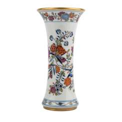MEISSEN rod vase 'onion pattern colorful', 20. Century