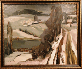 "The painting ""Early winter"""