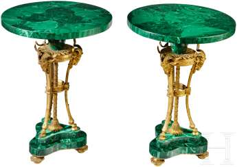 Elegant Pair of salon tables in Louis XVI-style, Russia, 19. Century