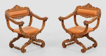 Pair Of Renaissance Armchairs