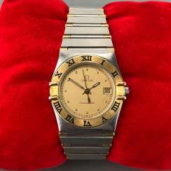 OMEGA Constellation ladies wristwatch in Gold 18K / 750 and steel. In original box, with papers.