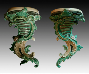 Pair of console in the Rococo style