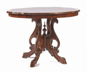 Louis Philippe style walnut table