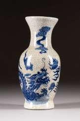 SMALL VASE WITH DRAGON DECORATION