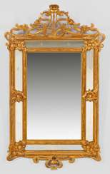 Large Art Nouveau Style Wall Mirror