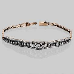 Bracelet in gold with diamonds