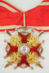 Russia : Imperial and Royal order of Saint Stanislaus, 2. Model, 2. Type (approx. 1841-1917), 2. Class with swords.