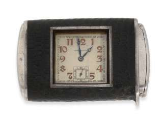 Travel clock/pocket watch: extremely rare Hermès Art Deco travel clock, Hermes, Paris,