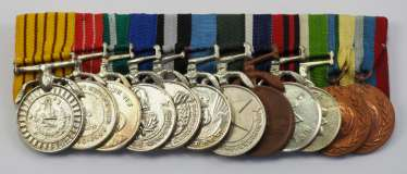 Nepal: Great medalbar with 12 awards.