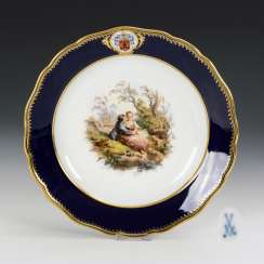 Plate with Watteau painting