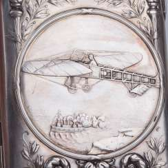 Rare cigarette case with plane