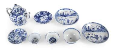 Group Of Eight Porcelain,