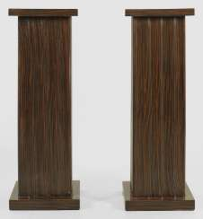Pair of large pedestal base in the Art Deco style
