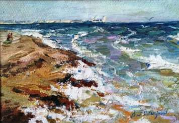 "Belousov V. P. ""seashore at Yalta"", 1972."