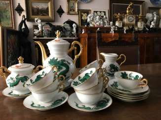 The service tea and coffee in Chinese style. Belgium, early twentieth century.