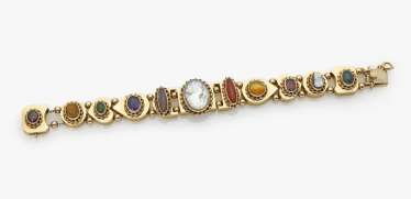 Bracelet with different colored stones and gems, probably Germany, 1920s