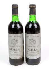 2 bottles of French red wine in 1981