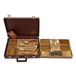 SOLINGEN gold plated Cutlery for 12 persons, 20. Century