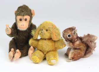 3 miniature plush toys