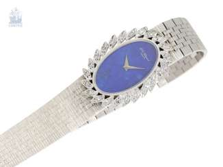 Watch: noble white gold vintage ladies watch from Chopard, 18K white gold with diamonds