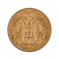 Hamburg/GOLD - 20 Mark 1887 J,