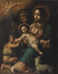 SPAIN 17. Century. Maria with the child, Saint John and the Hl. Elisabeth