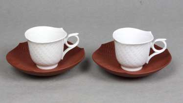 Meissen 2 Mocha Tableware *Waves*