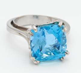 Aquamarin-Ring